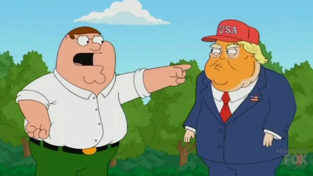 Foto: Peter Griffin y Donald Trump.