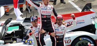 Post de El éxtasis de Alonso en Le Mans: