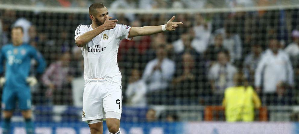 Foto: Benzema celebra un gol marcado la pasada temporada (AP)