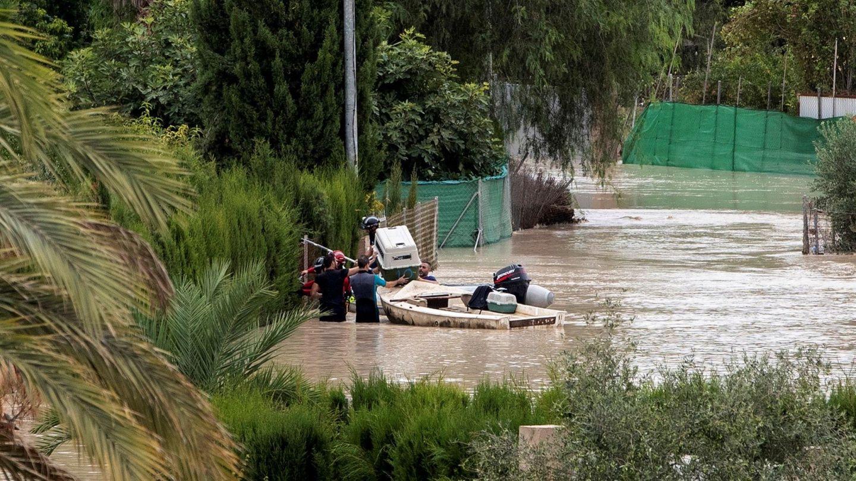 Inundaciones en Molina del Segura, Murcia. (EFE)