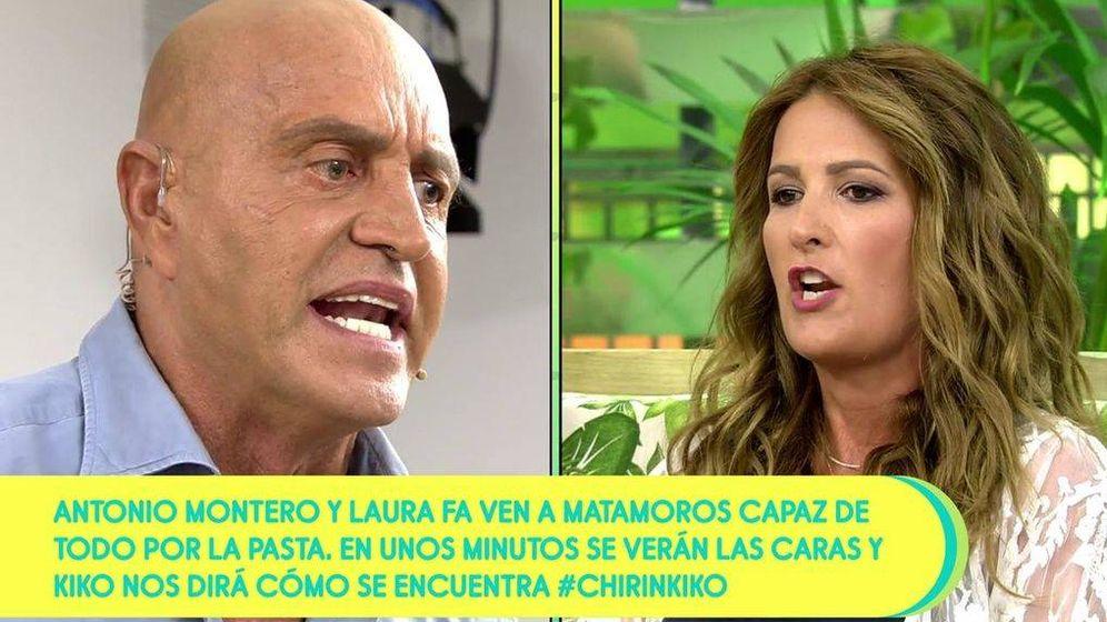 Foto: Kiko Matamoros y Laura Fa, en 'Sálvame'. (Telecinco).
