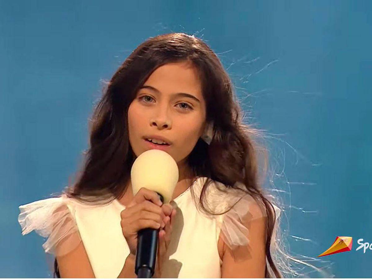Foto: Melani García, durante la final de Eurovisión Junior 2019. (TVE)