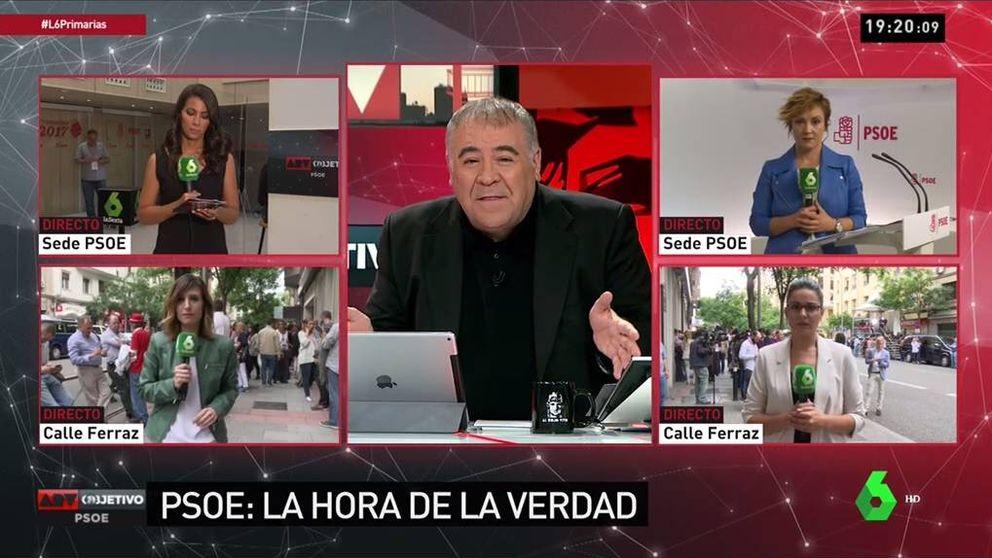 'Al rojo vivo',  a la altura de CNN o Fox News con las primarias del PSOE