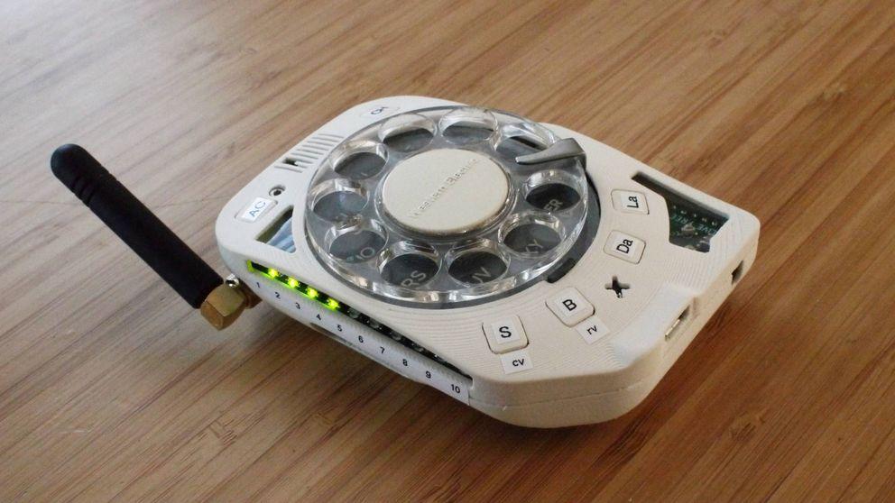Crea un móvil vintage solo para hablar (con un disco de marcar giratorio)