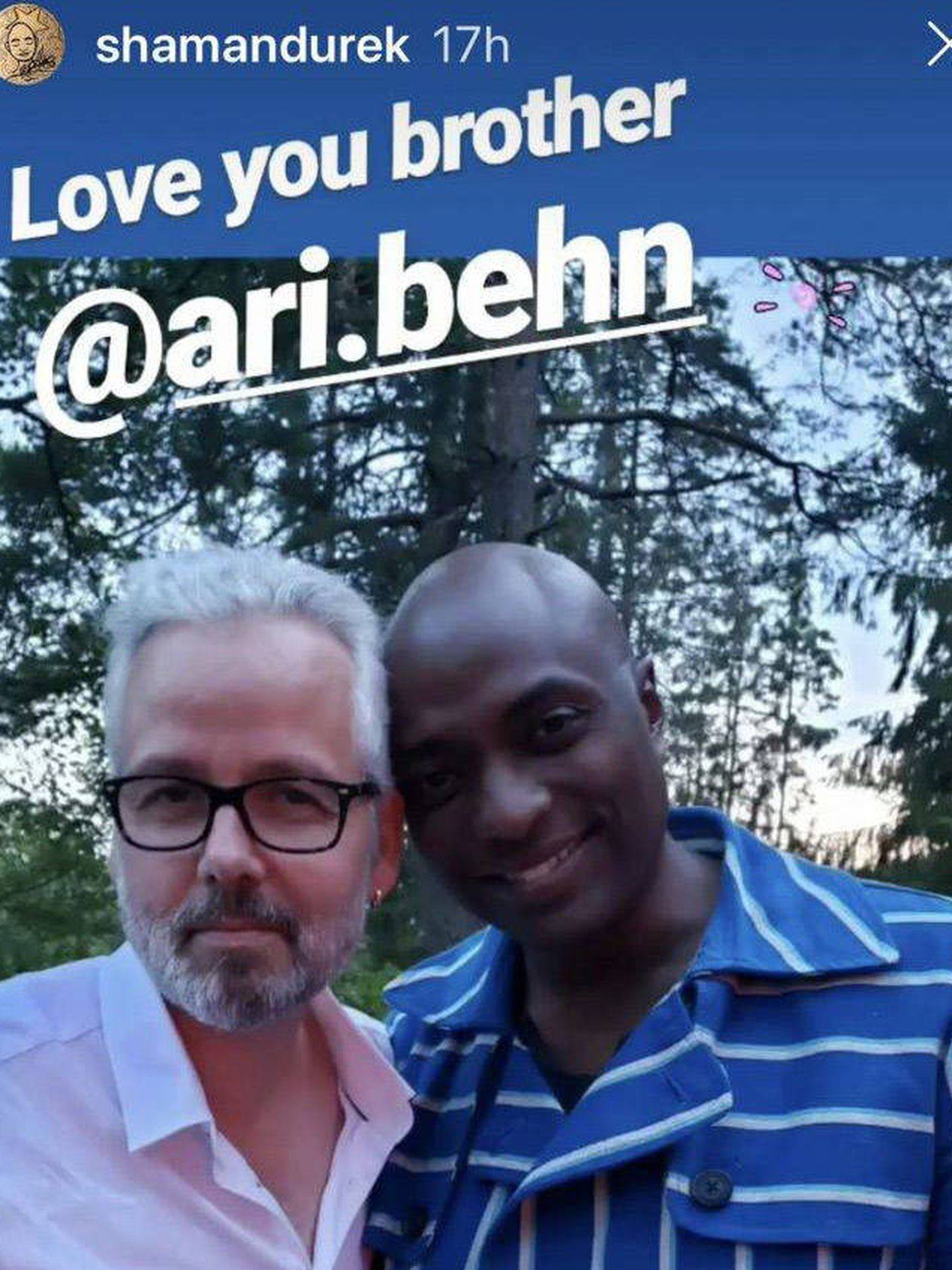 Ari Behn y Durek Verret. (Instagram: @shamandurek)