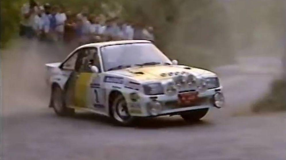Foto: Carlos Sainz compitiendo en el Rally Príncipe de Asturias de 1985.