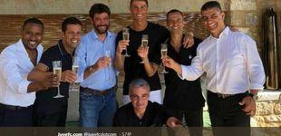 Post de La (descarada) foto del brindis de Ronaldo que molestó en el Real Madrid
