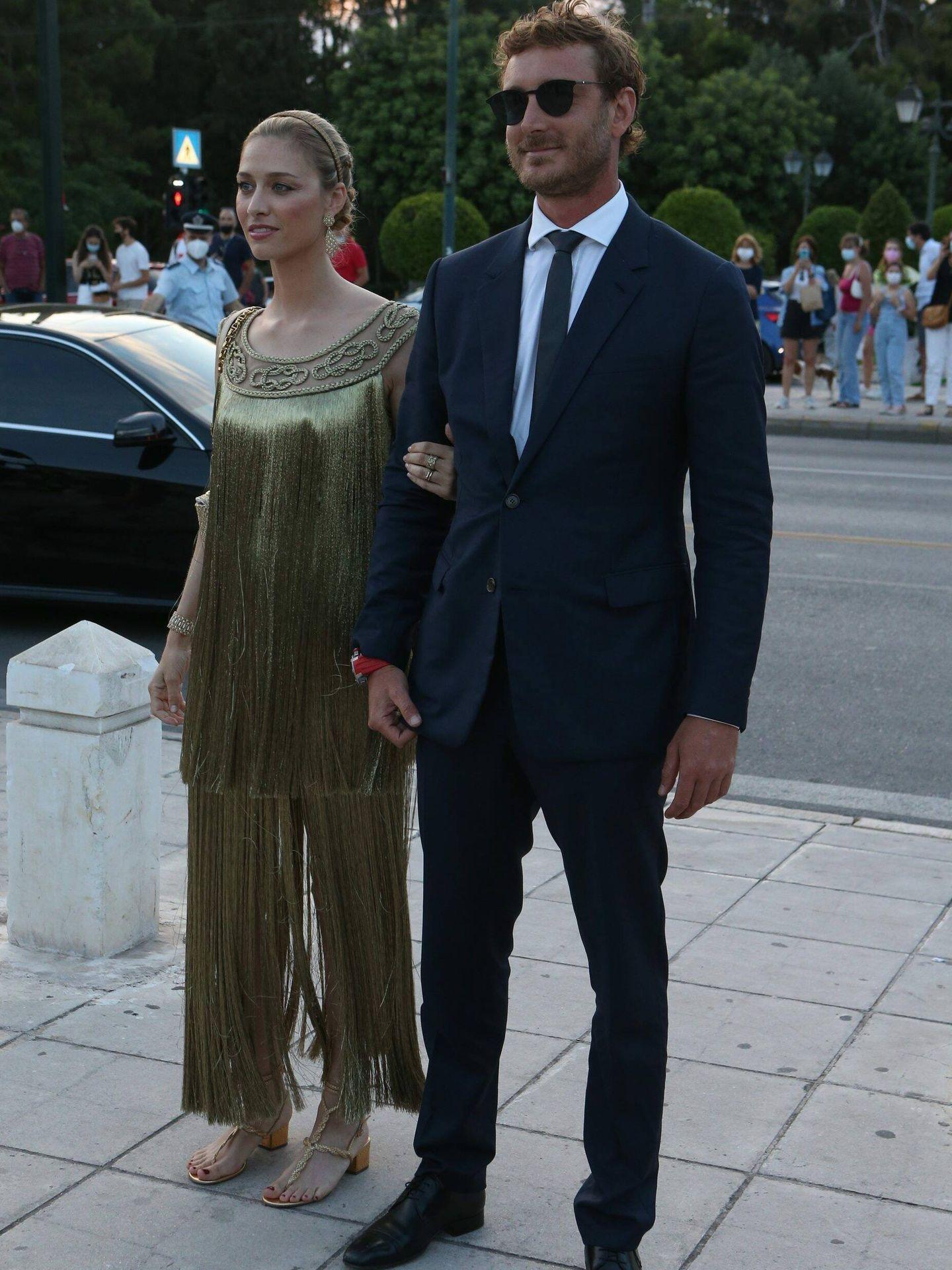 Beatrice Borromeo y Pierre Casiraghi, en el desfile de Dior. (Cordon Press)