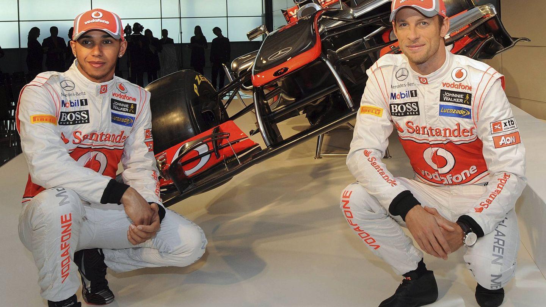 Button y Hamilton tampoco tuvieron convivencia fácil cuando compartieron equipo en McLaren