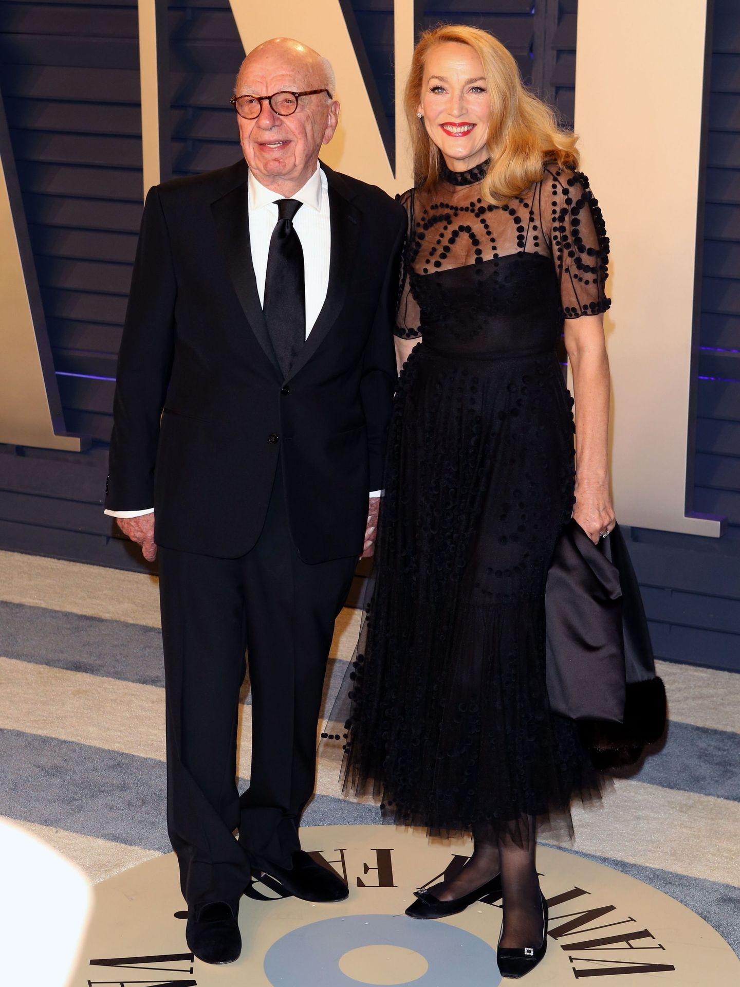 Rupert Murdoch y Jerry Hall, en la fiesta 'Vanity Fair'. (Reuters)