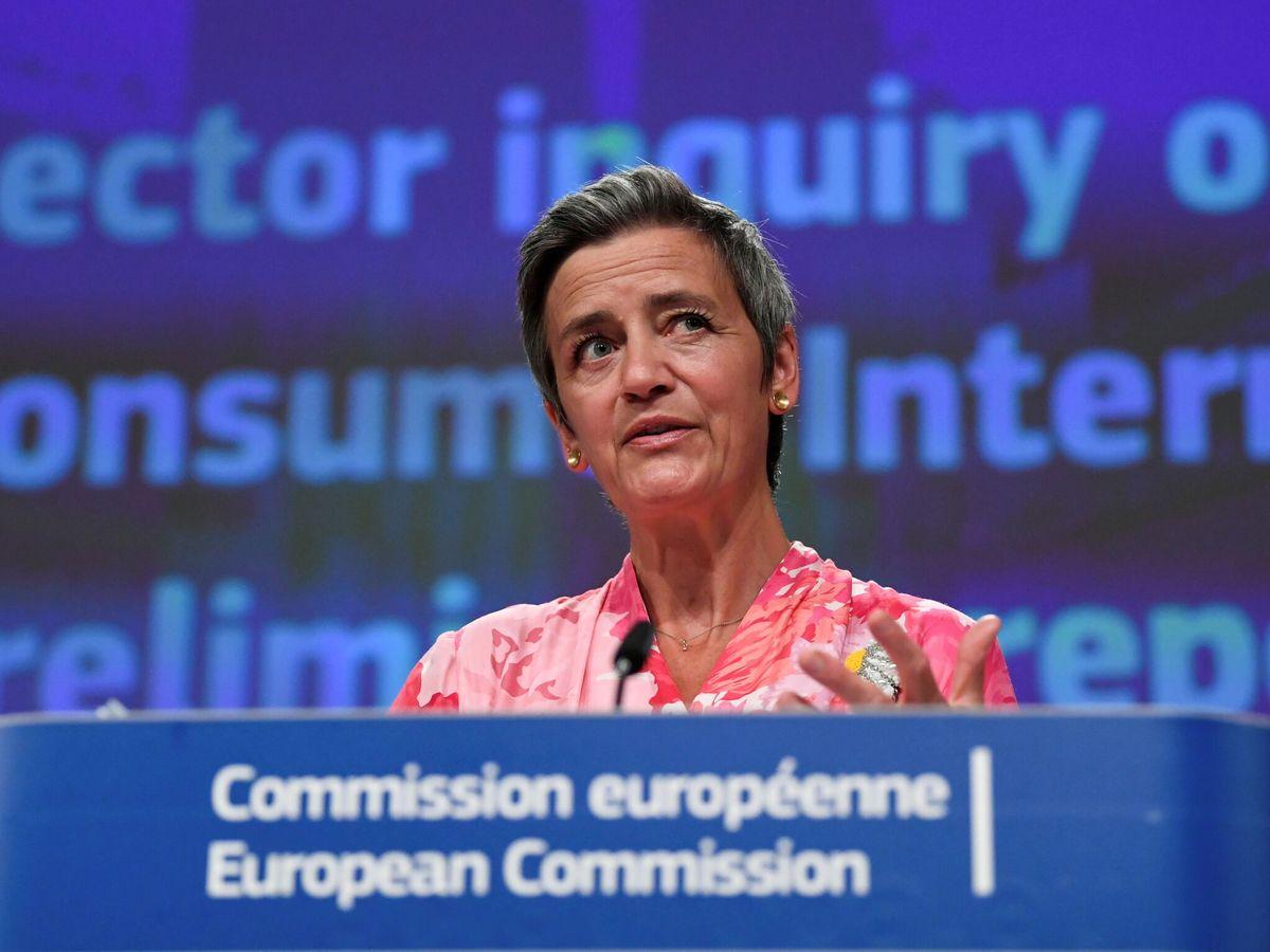Foto: La vicepresidenta ejecutiva de la Comisión encargada de Competencia, Margrethe Vestager. (EFE)