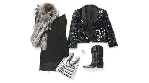 Cuatro looks (glitter y glam) con los que brillar en tu fiesta de fin de año