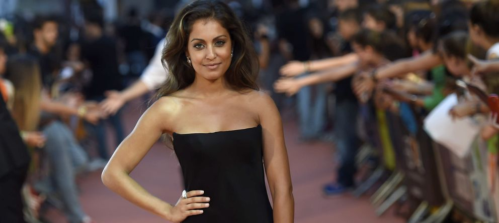 Foto: La actriz Hiba Abouk en la clausura del Festival de Televisión de Vitoria en septiembre (Gtres)