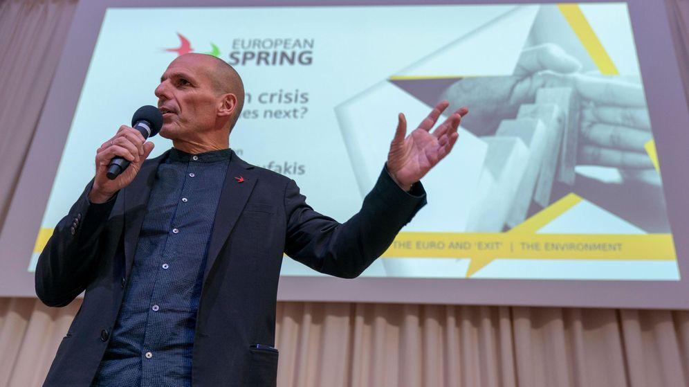 Foto: Yanis Varoufakis, candidato al Parlamento europeo por la lista internacional Movimiento Democracia en Europa, pronuncia un discurso en Berlín, el 24 de junio de 2019