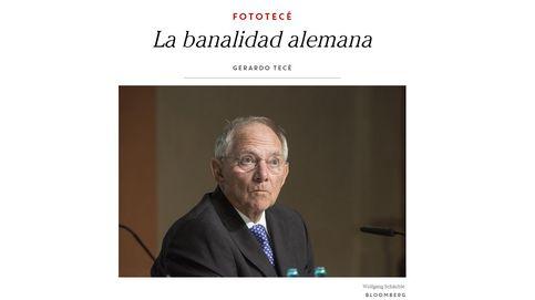 Zapata la lía: retuitea un artículo donde se compara a Schäuble con los nazis