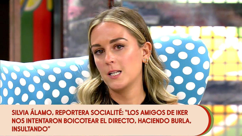Silvia Álamo, reportera de 'Socialité'. (Mediaset)