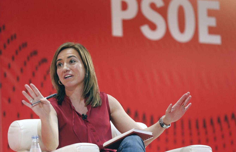 Foto: La exministra de Defensa Carme Chacón, el pasado 18 de febrero en Valencia. (EFE)