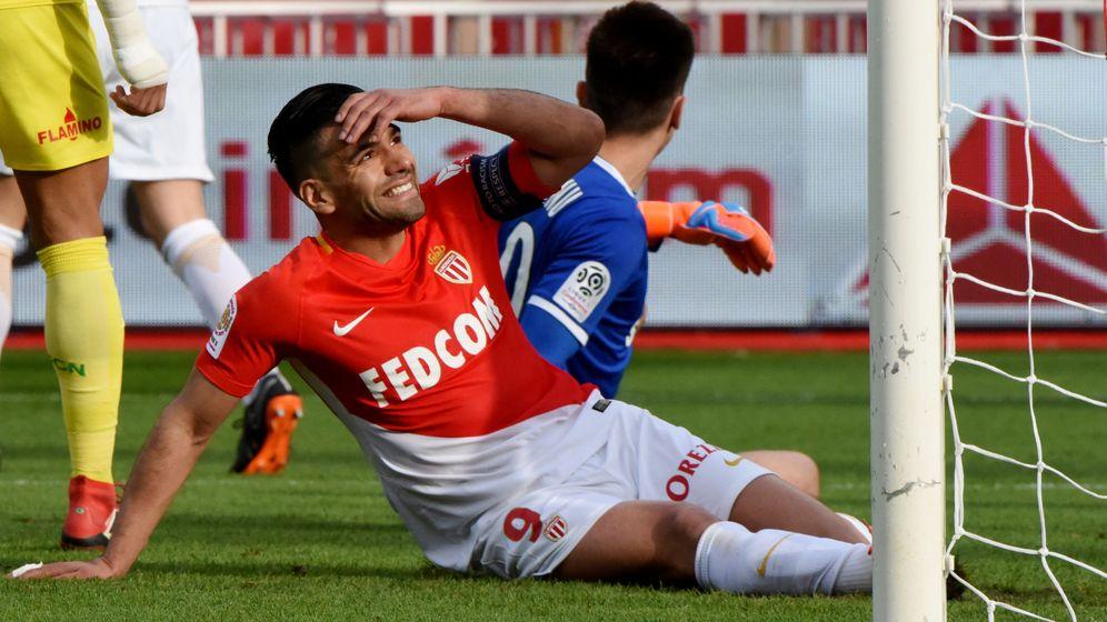 Foto: Falcao en un partido con el Mónaco. REUTERS