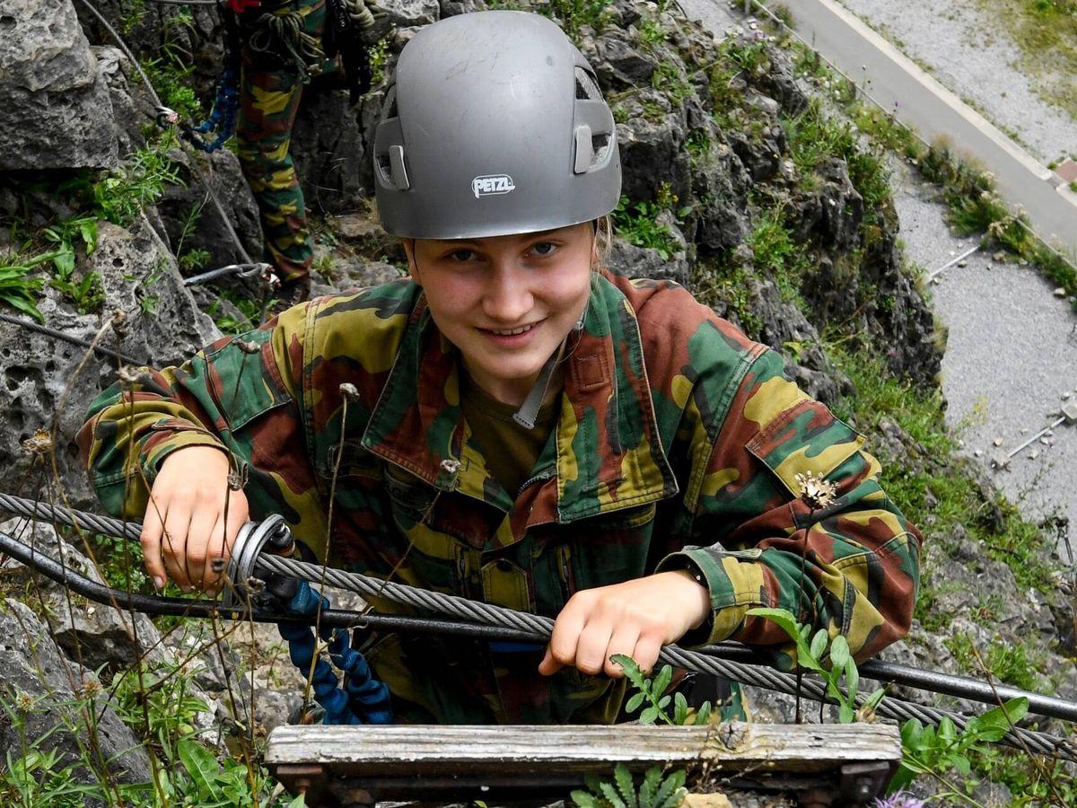 Foto: Elisabeth de Bélgica, en su última jornada de entrenamiento militar. (Casa Real de Bélgica)