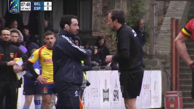 Uno de los árbitros del España-Bélgica de rugby llevaba el chándal de Rumanía