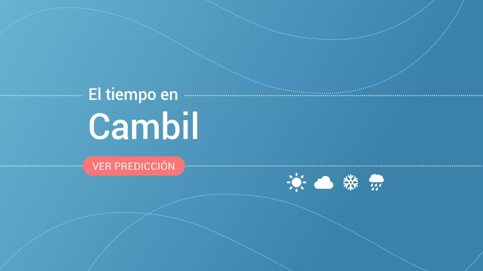 Foto: El tiempo en Cambil. (EC)