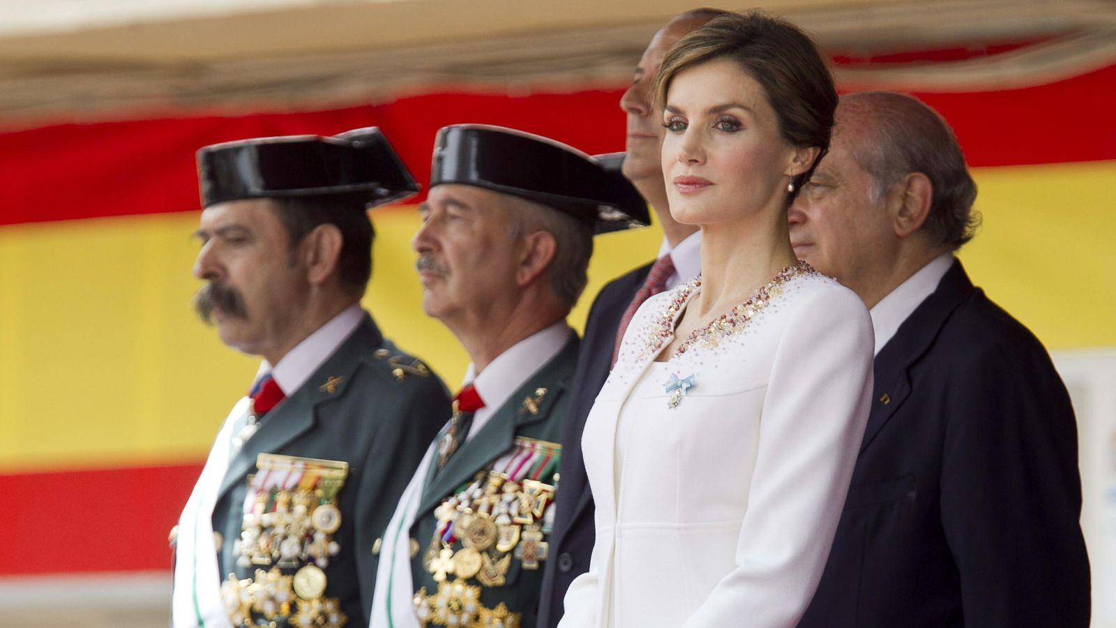 Foto: La reina Letizia, durante el acto de reconocimiento a la labor desarrollada por la Guardia Civil en el País Vasco. (Efe)