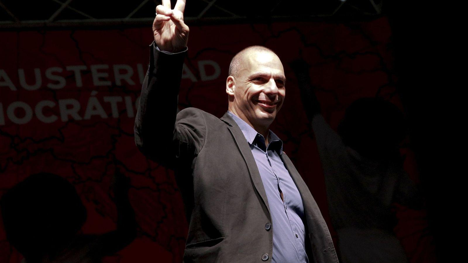 Foto: Varoufakis en Madrid, en febrero de 2016. (Reuters/Sergio Pérez)