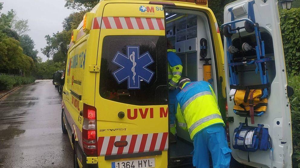 Herido en Torrelodones un hombre tras ser alcanzado por un rayo al salir a su jardín
