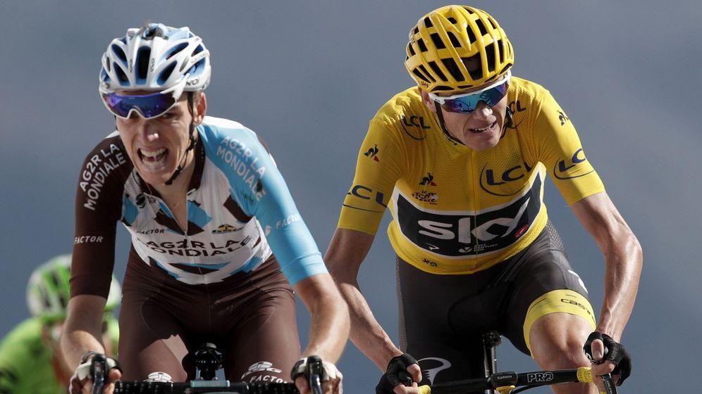 Foto: Chris Froome y Bardet en el pasado Tour. (EFE)