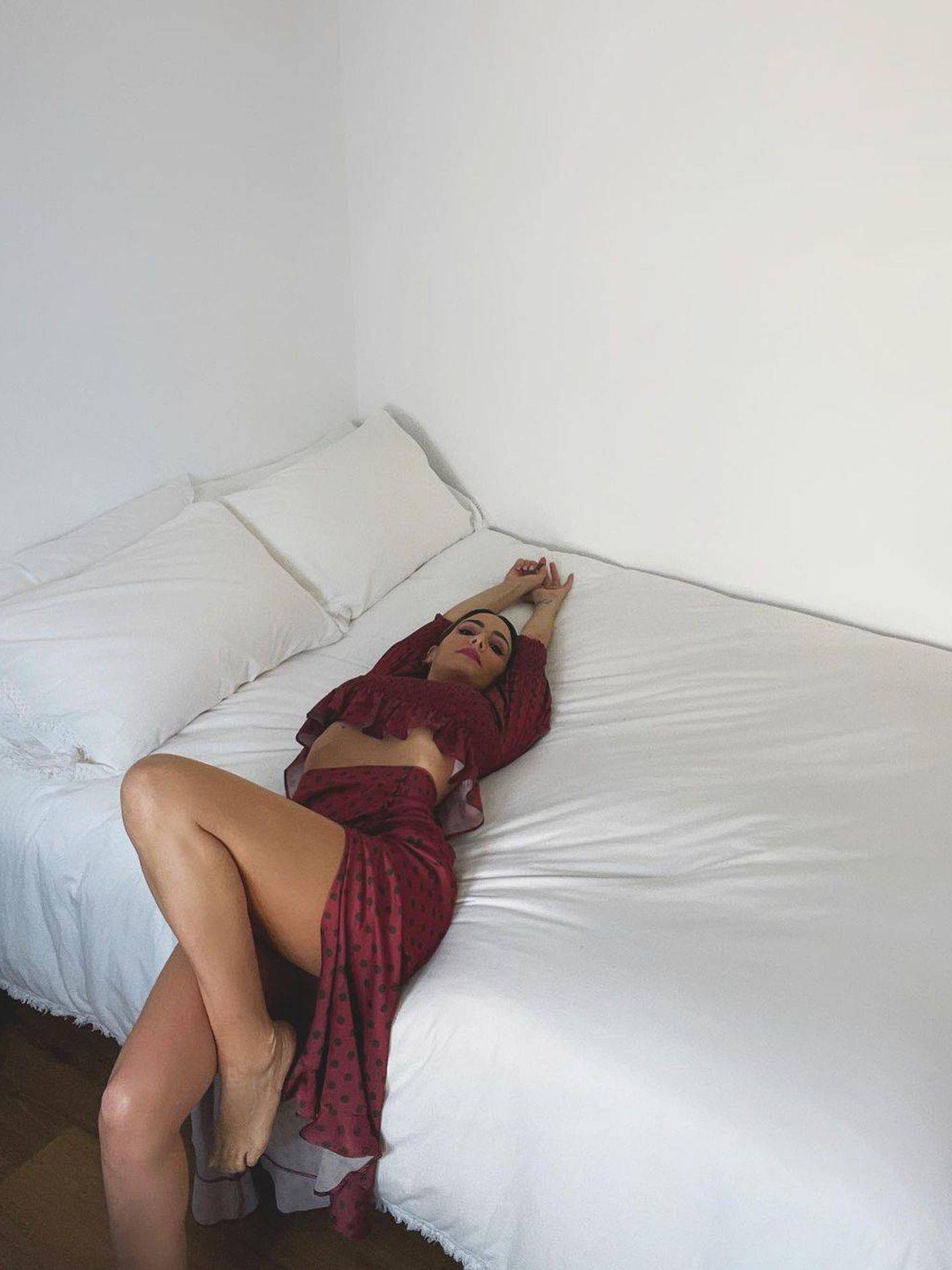 Rocío Osorno con el outfit de Zara en cuestión. (Instagram @rocio0sorno)