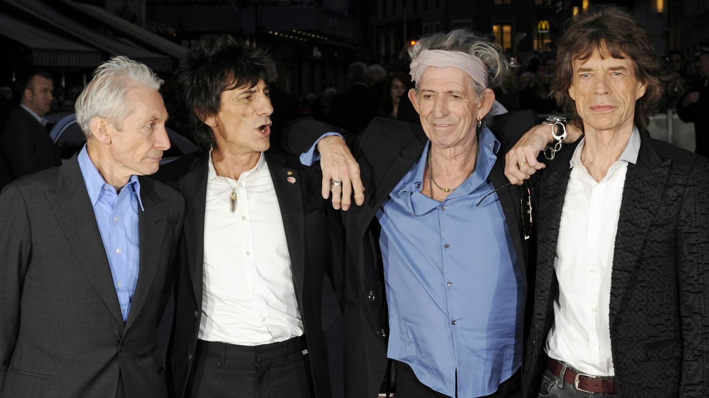 The Rolling Stones, con Charlie Watts, Ronnie Wood, Keith Richards y Mick Jagger. (EFE)
