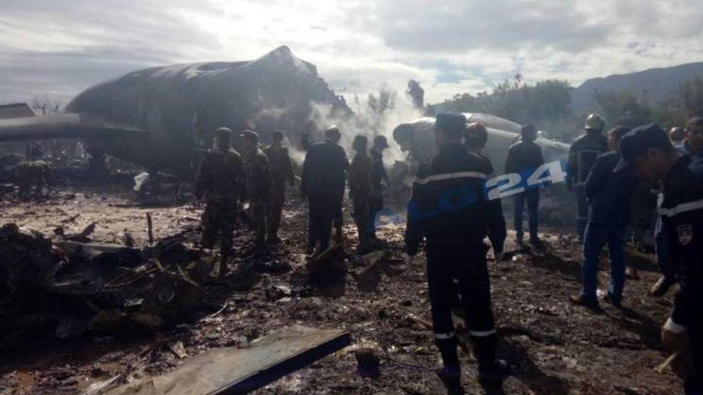 Foto: Fotografía del avión estrellado publicado por 'Algérie24'