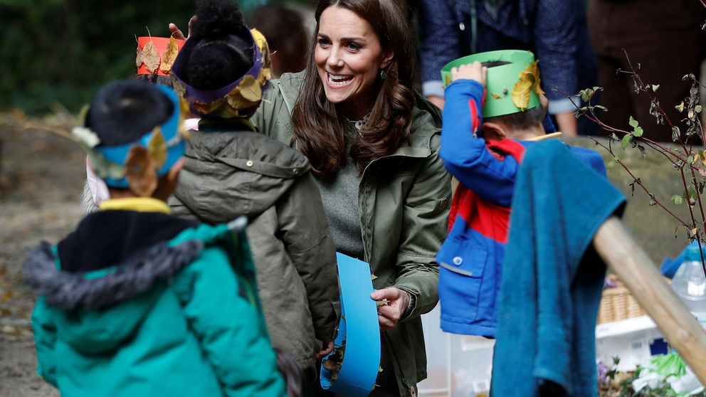 El vídeo más cuqui de Kate Middleton con una niña en su último acto