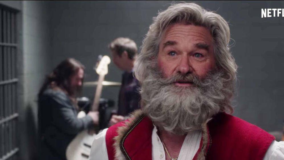 Foto: Kurt Russell es el nuevo papá Noel. (Netflix)
