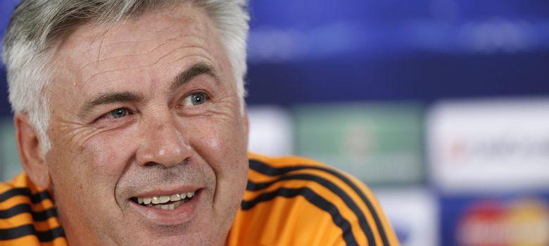 Foto: Carlo Ancelotti, en la rueda de prensa previa al partido de Champions (Efe).