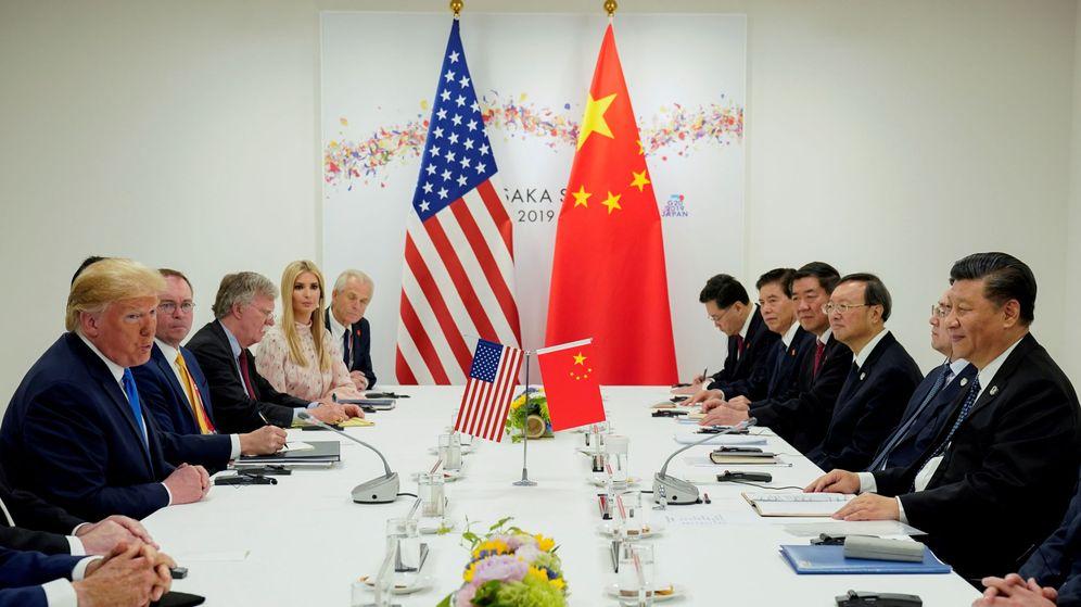 Foto: Reunión entre el presidente estadounidense Donald Trump y su homólogo chino, Xi Jinping. (Reuters)