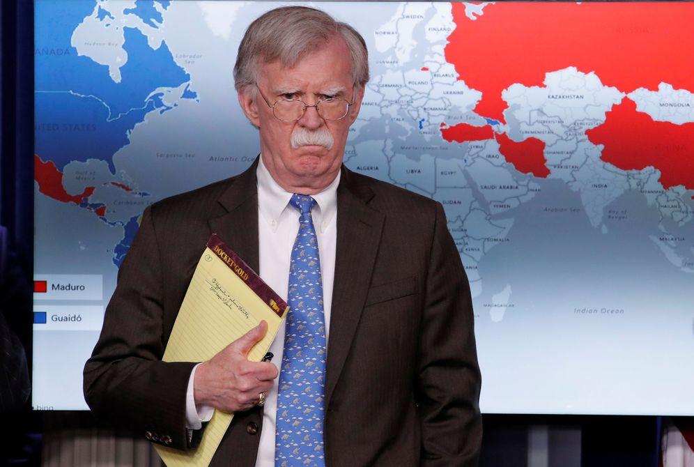 Foto: El asesor de Seguridad Nacional de EEUU, John Bolton, durante su comparecencia en la Casa Blanca. (Reuters)