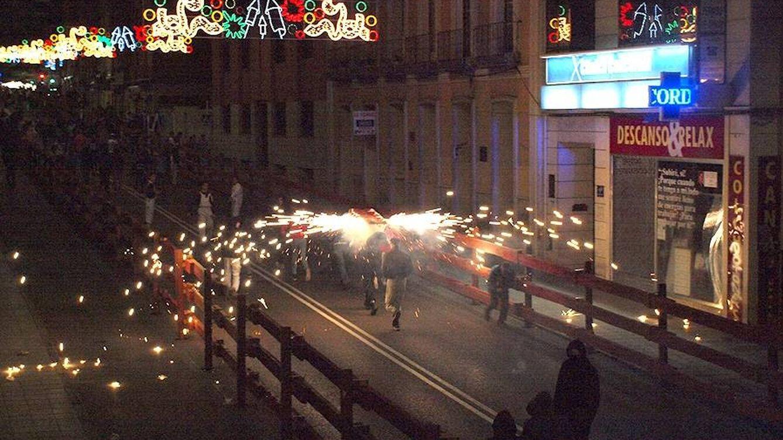 Foto: Toros de fuego en Guadalajara.