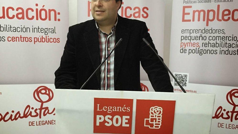 Foto: Santiago Llorente, alcalde de Leganés. (EFE)
