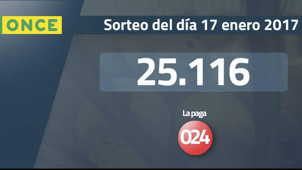 Resultados del sorteo de la ONCE del 17 enero 2017: número 25.116