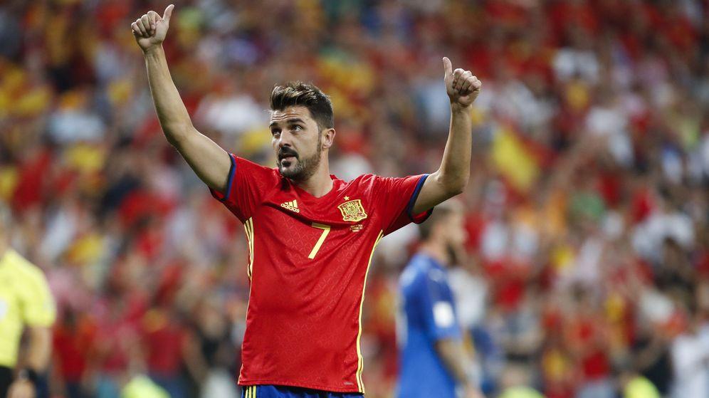 Foto: David Villa, en su último partido con la Selección española. (EFE)