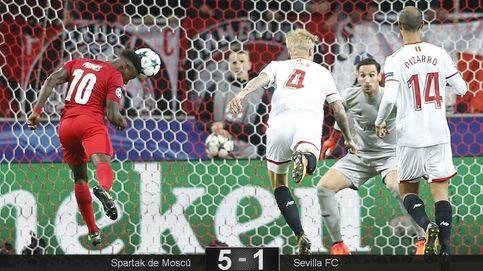El Sevilla sufre un hundimiento de campeonato frente al Spartak de Moscú