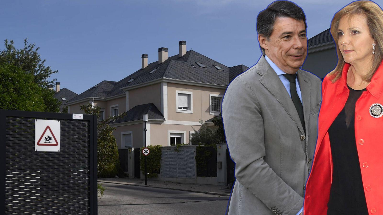 Foto: La casa de Ignacio González y Lourdes Cavero en un fotomontaje elaborado por Vanitatis.