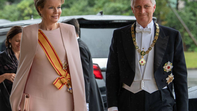 Felipe y Matilde de Bélgica, a su llegada a la entronización. (Getty)