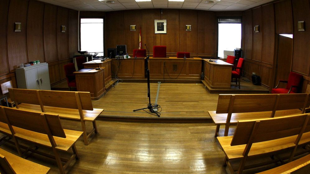 Foto: Sala de los juzgados de Plaza de Castilla.