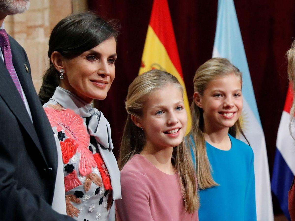 Foto: La Reina y sus hijas, en una imagen de archivo. (EFE)