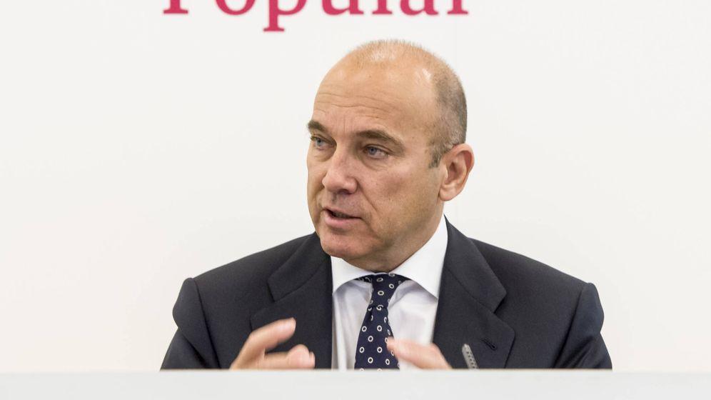 Foto: El consejero delegado del Banco Popular, Pedro Larena, en la presentación de resultados del viernes (EFE)