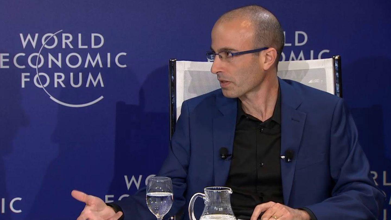 Harari en el Foro Mundial de Davos.