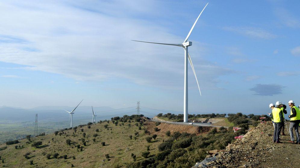 Foto: Parque eólico de Naturgy, en Cáceres. (EFE)