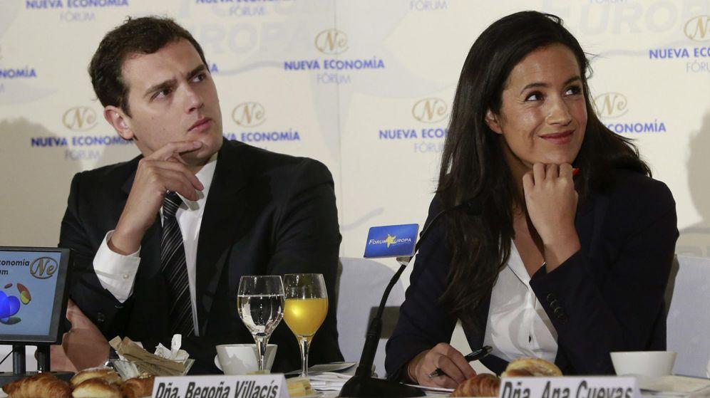 Foto: El presidente de Ciudadanos, Albert Rivera, junto a la candidata de su partido al Ayuntamiento de Madrid , Begoña Villacís